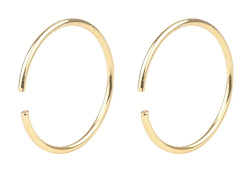 YTE 22G 2PCS Gold Stainless Steel Body Jewelry Piercing Nose Ring Hoop Nose Piercing (Nose Gold 22 Ring)