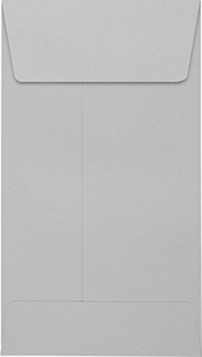 #5 1/2 Coin Envelopes (3 1/8 x 5 1/2) - 28lb. Gray Kraft (250 Qty.) | Perfect for storing Small Parts, Coins, Jewelry, Stamps, Seeds, Small Electronic Parts and so much more! | 512CO-28GK-250