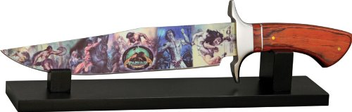 Rough Rider Knives 1388 Tarzan 100th Anniversary Bowie Fixed Blade Knife with Brown Wood Handles