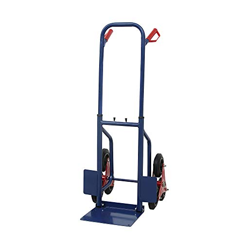 440lbs Heavy Duty Stair Climbing Moving Dolly Solid Rubber Wheels Hand Truck Warehouse Appliance Cart Blue