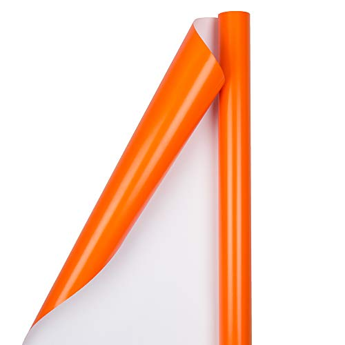 - JAM PAPER Gift Wrap - Glossy Wrapping Paper - 25 Sq Ft - Orange - Roll Sold Individually