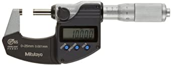Mitutoyo Coolant Proof LCD Micrometer, Friction Thimble, Metric