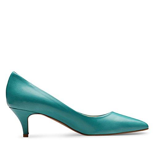 Shoes mujer Turquesa de Piel de vestir Zapatos para Evita Turquesa vxw0g1dv