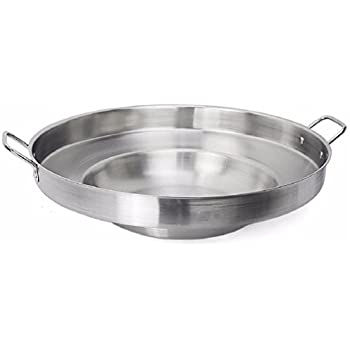 Large Mexican Style Wok Comal Cazo Griddle Fryer Chicharron Deep Fry Pan Stainless Steel For Carnitas Panza Abajo 23