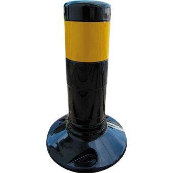 Kunstoffpfosten 300mm Flexipfosten schwarz mit wei/ßen reflektierenden Streifen /Ø 80mm