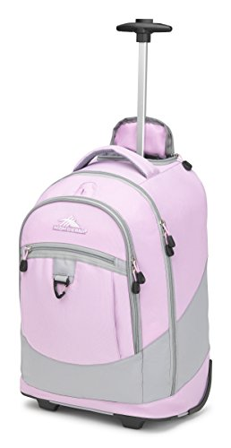 High Sierra Chaser Wheeled Laptop Backpack, Iced Lilac/Ash by High Sierra