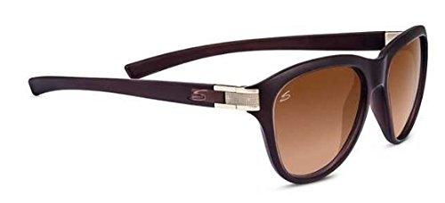 Serengeti Cosmopolitan Elba Sunglasses, Sanded Crystal Brown/Satin Brass, Brown Lens
