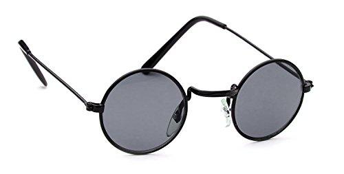 Kids Camouflage Wrap Around Sunglasses Color Mirror Lens Sport Boys Girls Gift (Round-Black/Smoke, - Sunglasses 6001
