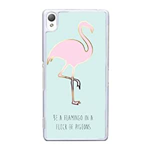 Sony Xperia Z3 Cell Phone Case White BE A FLAMINGO IN A FLOCK OF PIGEONS YT3RN2558467