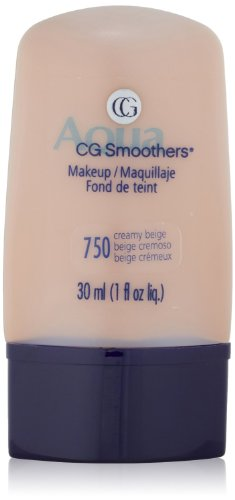 CoverGirl Aqua Smoothers Liquid Makeup, [750] Creamy Beige 1 oz (Pack of 2) Cover Girl Smoothers Liquid Makeup