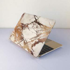 ゴム引きハードケースシェル + キーボードカバー MacBook Pro 13/15インチ Air 11/13インチ用 (ゴールド大理石 Pro 15(CD-ROMバージョンなし) B07H1DRSNL