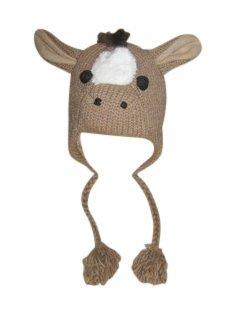 Horse Pom Pom Knit Hat ()