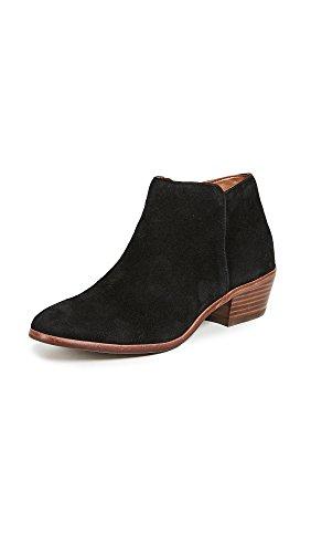 Sam Edelman Women's Petty Ankle Bootie, Black Suede, 9.5 M US