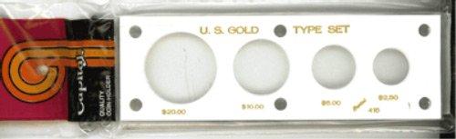 Capital Plastics 2x6 Holder - US GOLD TYPE SET in White