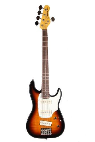 Godin Shifter Series 034543 5-Strings Bass Guitar, Vintage Burst Flame HG RN