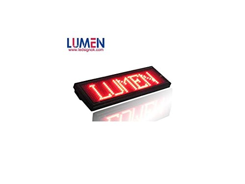 Led Name Tag  Lumen Rechargeable Digital Scrolling Message Board Programing Badge 11X44 Pixel