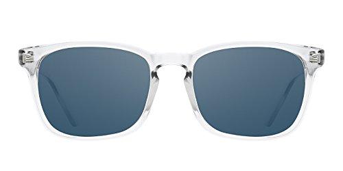 Tijn Womens Men Classic Polarized Keyhole Wayfarer Sunglasses