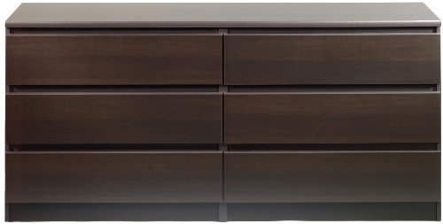 Scottsdale 6 Drawer Double Dresser Finish: Coffee