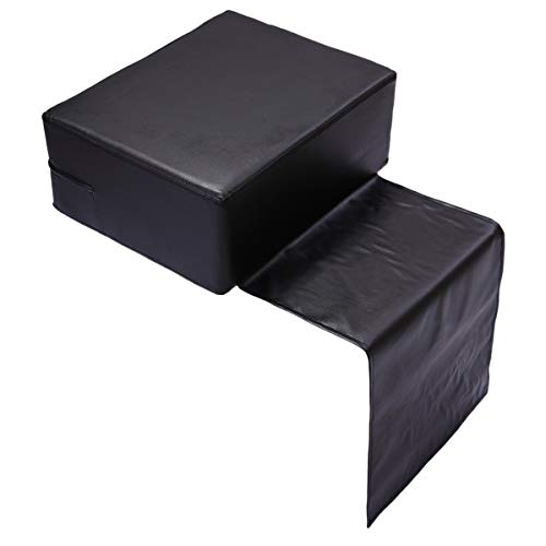 Kids Styling Chair - Child Booster Seat Cushion, for Styling Chair of Barber Shop - Salon Spa Equipment, Black Leather