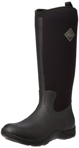 e Tall Rubber Women's Winter Boots, 7 M US, Black/Black ()