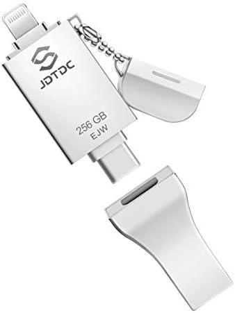 iPhone-Photo-Stick 3 in 1, 128GB Apple MFi Certified USB 3.0 Flash-Drive, Photo-Stick-for-iPhone,Photo-Stick Photo Memory-Stick Photo stick iPhone Backup Memory Stick for iPhone, iPad, Type-C Phone,PC