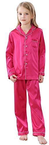JOYTTON Kids Satin Pajamas Set PJS Long Sleeve