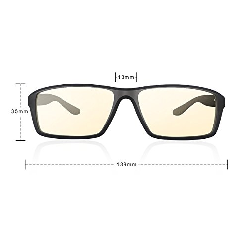 Velocifire VG2 Blue Light-Blocking Computer Glasses with Amber Lens Tint for Women and Men, Anti-Glare, Prevent Headaches, Reduce Eye Fatigue