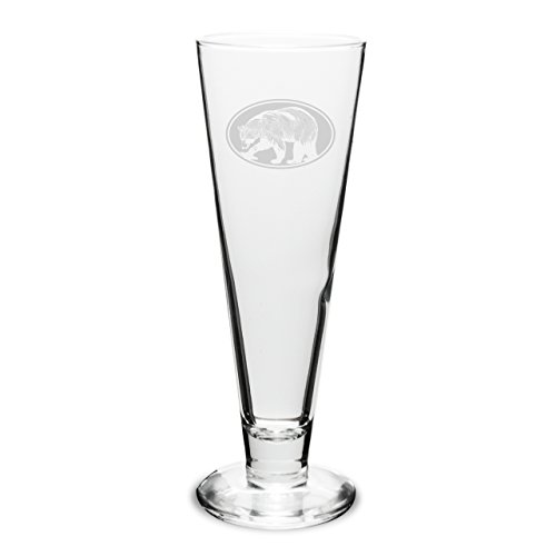 - CC Gifts Bear Oval 16 oz. Deep Etched Classic Pilsner
