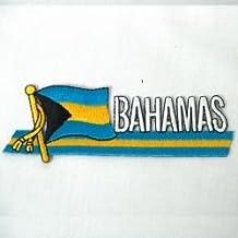 BAHAMAS SIDEKICK WORD COUNTRY FLAG IRON ON PATCH CREST BADGE ... NEW