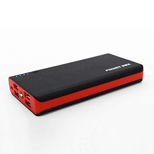 HibiscusChloe Power Bank Shell con Linterna LED 4 Puertos USB 5V 2A Power Bank Cargador Estuche Kits de Bricolaje con…