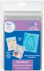 "Darice Self-Sealing Bags 50//Pkg-4.125/""X6.125/"" Clear 6 Pack"