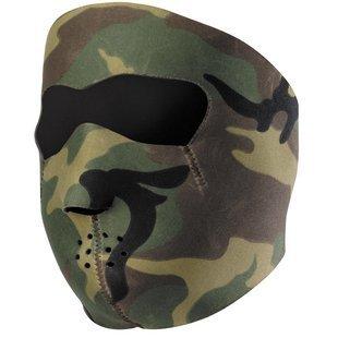 Playwell Bikers Neoprene Motorbike Camouflage Mask Balaclava Reversible