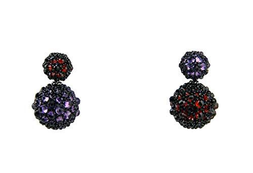 (David Yurman ST. Silver Cable Osetra Berries Garnet Amethyst 16 mm Earrings)
