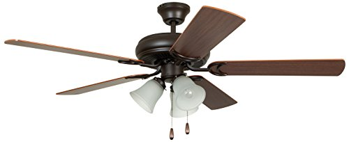 Craftmade Ceiling Fan with Light DCF52FBZ5C3 Decorator s Choice French Bronze 52 Inch
