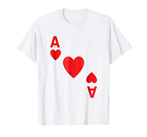 Ace of Hearts Shirt poker playing card Halloween costume ()