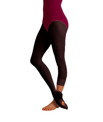 Body Wrappers A31 TotalSTRETCH Convertible Dance Tights (Small / Medium, Black) (Black Body Wrappers)