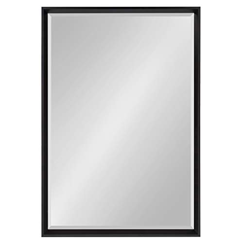 Kate and Laurel Calter Framed Wall Mirror, 25.5×37.5 Black