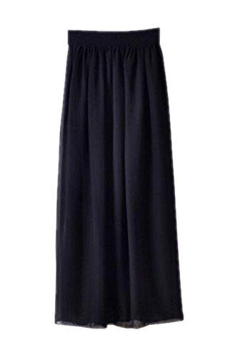 Aoliait Jupe Femelle Taille Femme Longue Glamour Black Taille Jupe ElGant Jupe Mousseline Extensible Jupe Skirt Grande rrp5qwxS8