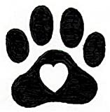 Dog Rubber Stamps - Small Heart Paw-DSP1005B (5/8 x 5/8)