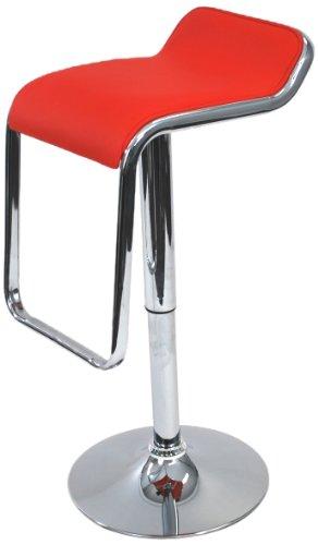 Fine Mod Flat Bar Stool Chair, Red