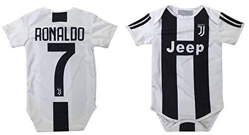 (Kitbag Cristiano Ronaldo Juventus #7 Soccer Jersey Baby Romper Infant Toddler Onesie Premium Quality (6-12 mo, Ronaldo #7))