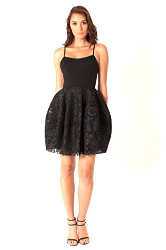 BLACK Lace Black BELIZE Fitted HALO F amp Bodice Womens 230118 Dress F16Fwqr