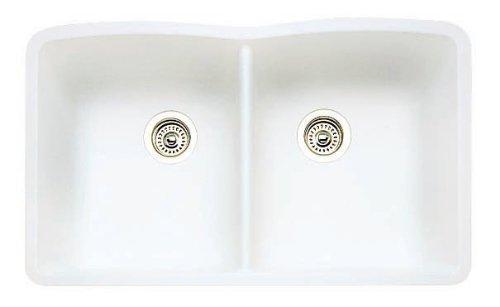 Diamond Equal Double Bowl Silgranit II (Um) - White ()