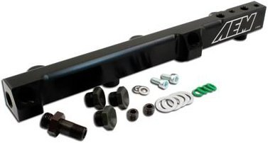 (A1825104BK2203-25-104BK - AEM 25-104BK Fuel Rail - Anodized Black, Aluminum, Direct Fit)