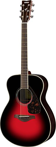 Yamaha FS830 Small Body Solid Top Acoustic Guitar, Dusk Sun Red (Concert Acoustic Guitar)