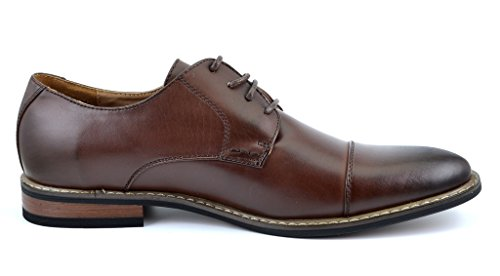 Prince dk Wingtip PAIRS Dress DREAM Lace Modern Marc Shoes Classic 6 Oxford Men's brown Moda Italy Prince Bruno wXwvqxf