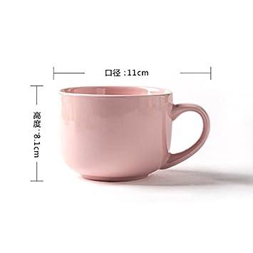 LOYWT cerámica creativa desayuno Copa taza de agua, Japón y Corea del simple taza de