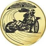Durchmesser 50 mm Durchmesser Sportland Pokal//Medaille Emblem S.B.J Motiv Speedway