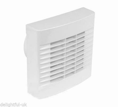 Airvent White Kitchen Extractor Fan with Pullcord 6' 150mm - Wall or Window Generic