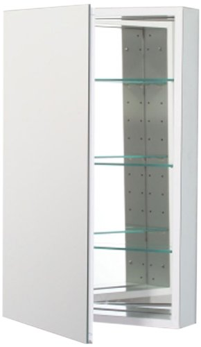 Robern PLM2030WRE Pl-Series Right-Side Flat Mirror Medicine Cabinet with Outlet, White